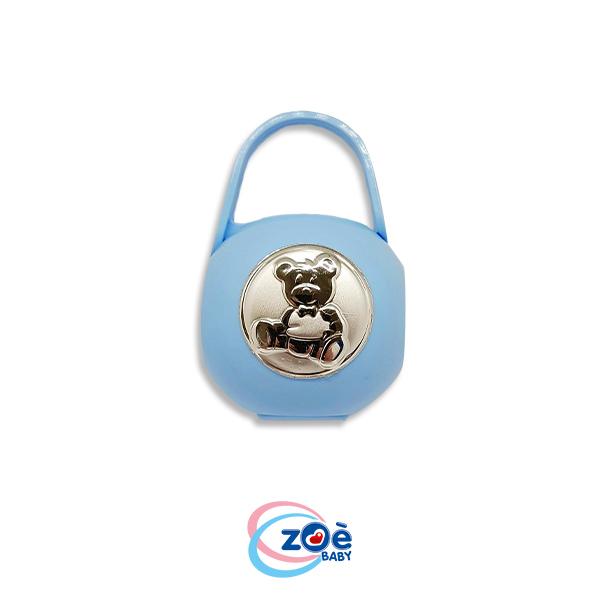 Borsetta porta succhietto argento orso