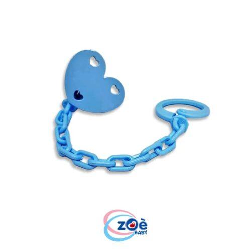 Catenella clip love azzurro