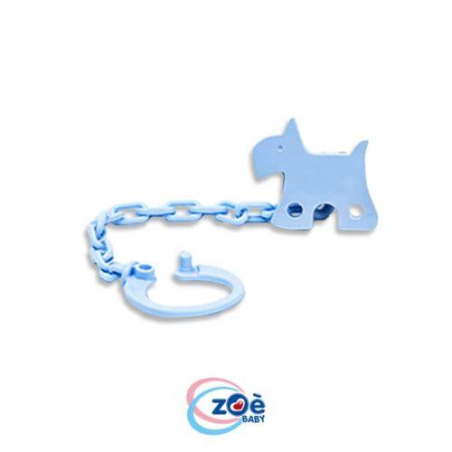 Catenella con clip cagnolino azzurro