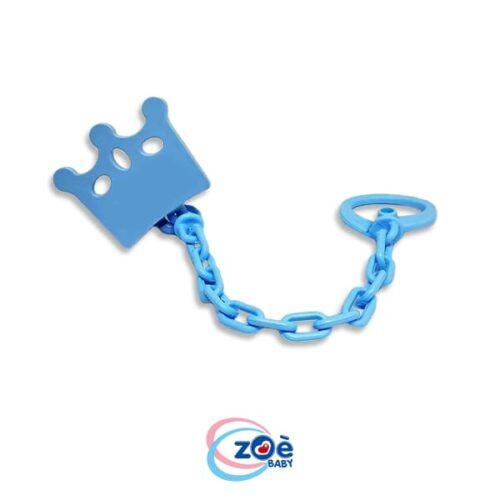Catenella con clip corona azzurro