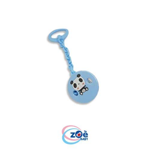 Catenella con clip panda azzurro