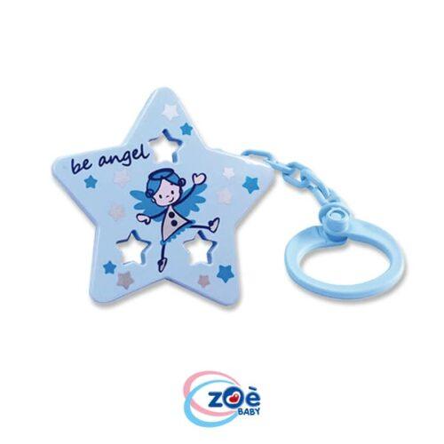 Catenella con clip stella azzurro