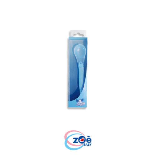 Cucchiaio punta trasparente azzurro