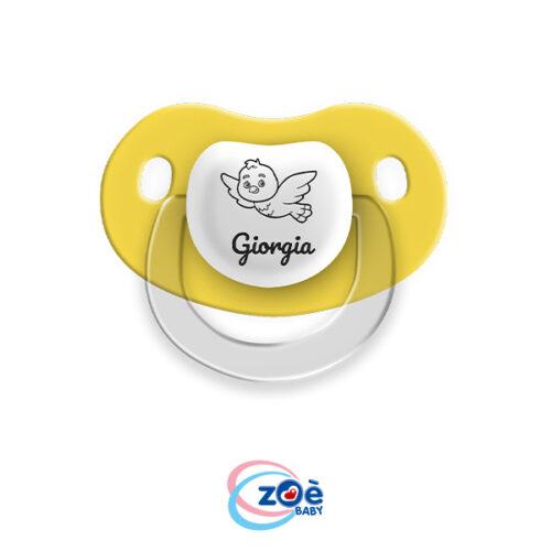 Succhietto personalizzato Giallo Uccellino