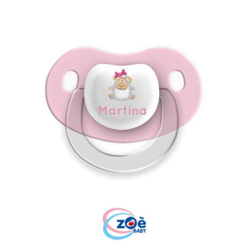 Succhietto personalizzato rosa pecorella
