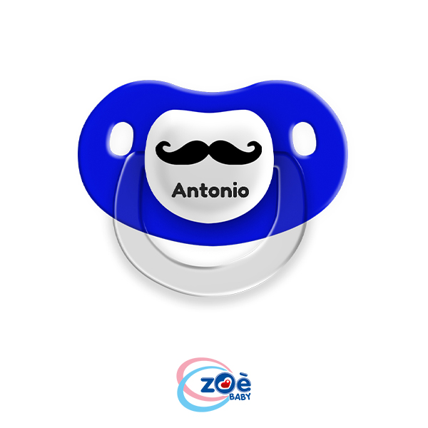 Succhietto personalizzato Blu Baffi