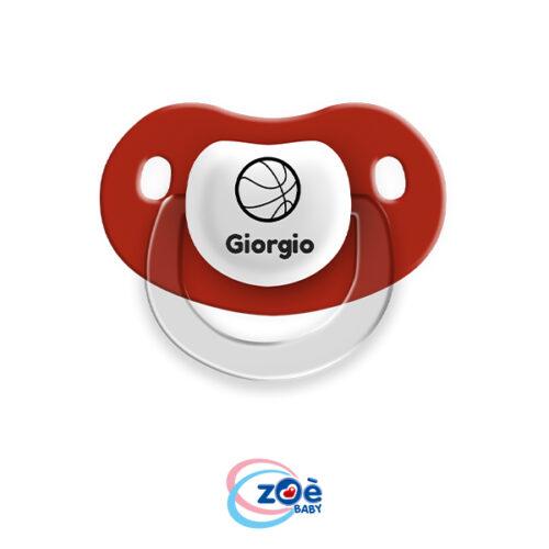 Succhietto personalizzato Rosso Basket