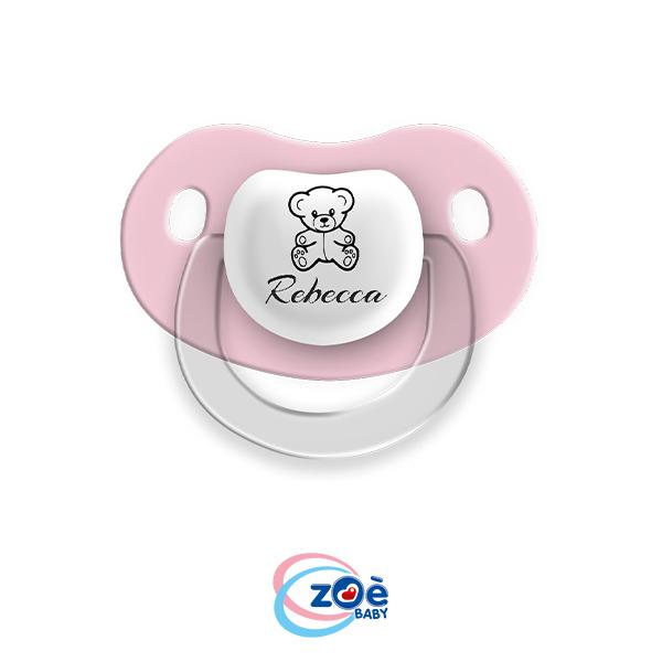 Succhietto personalizzato Rosa Orsetto